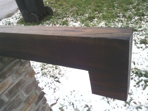 Custom Made Basic Wooden Mantel In Cherry