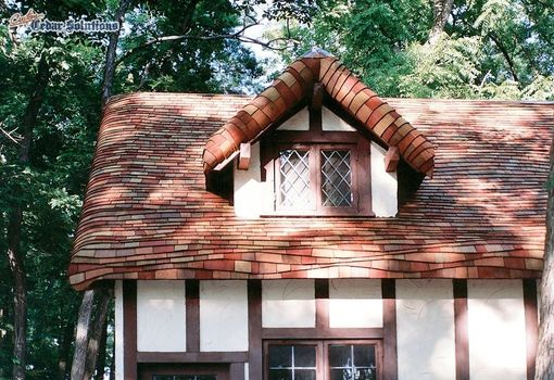 hand crafted  u0026quot gingerbread u0026quot  roof using cedar shingles on a cottage home by custom shingles