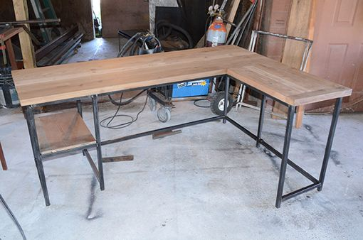 Custom Made L-Shape Desk Industrial Style