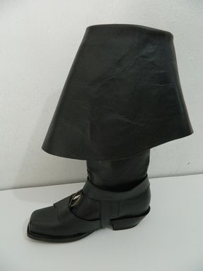 Custom Made Cuffed  Boots  Made Of Genuine Leather