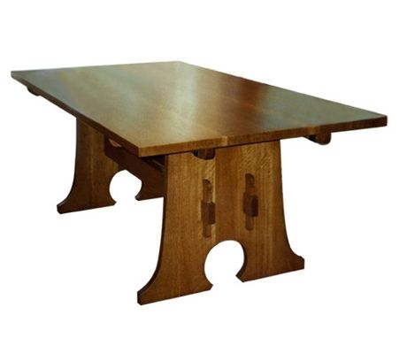 Custom Made Keyhole Trestle Table