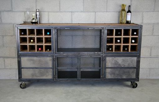 Buy a Hand Crafted Reclaimed Wood Liquor Cabinet / Bar. Vintage ...
