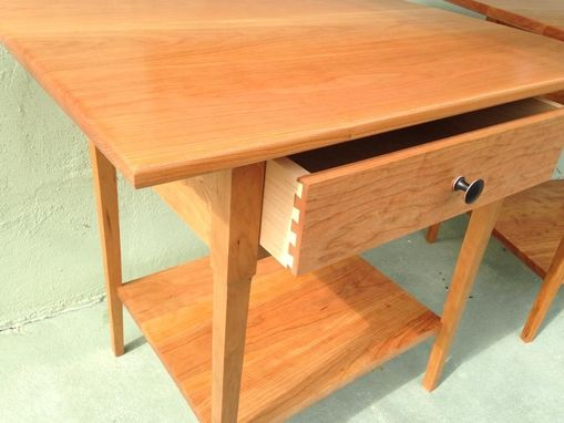 Custom Made Cherry Bedside Tables (Ask About 'Green Piece' Option)