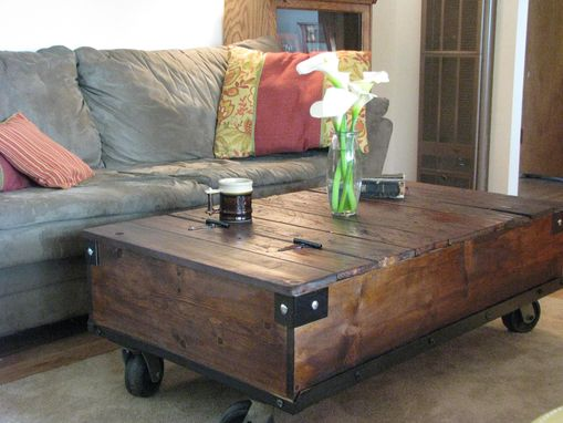 Custom Made Factory Style Coffee Table
