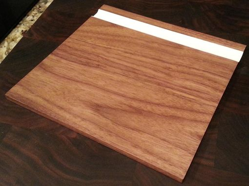 Custom Made Walnut Mouse Pad With White Pencil Holder