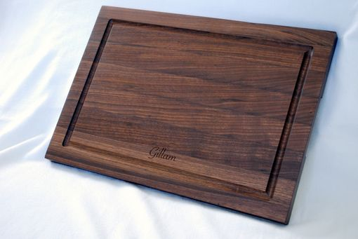 Custom Made Solid Walnut Edge Grain Personalized Cutting Board