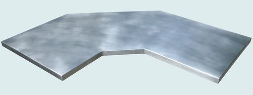 Custom Made Zinc Countertop With Gullwing Shape