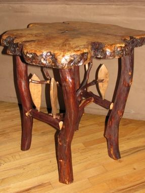 Custom Made Natural Slab End Table