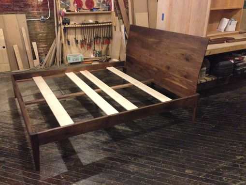 Custom Made Walnut Platform Bed