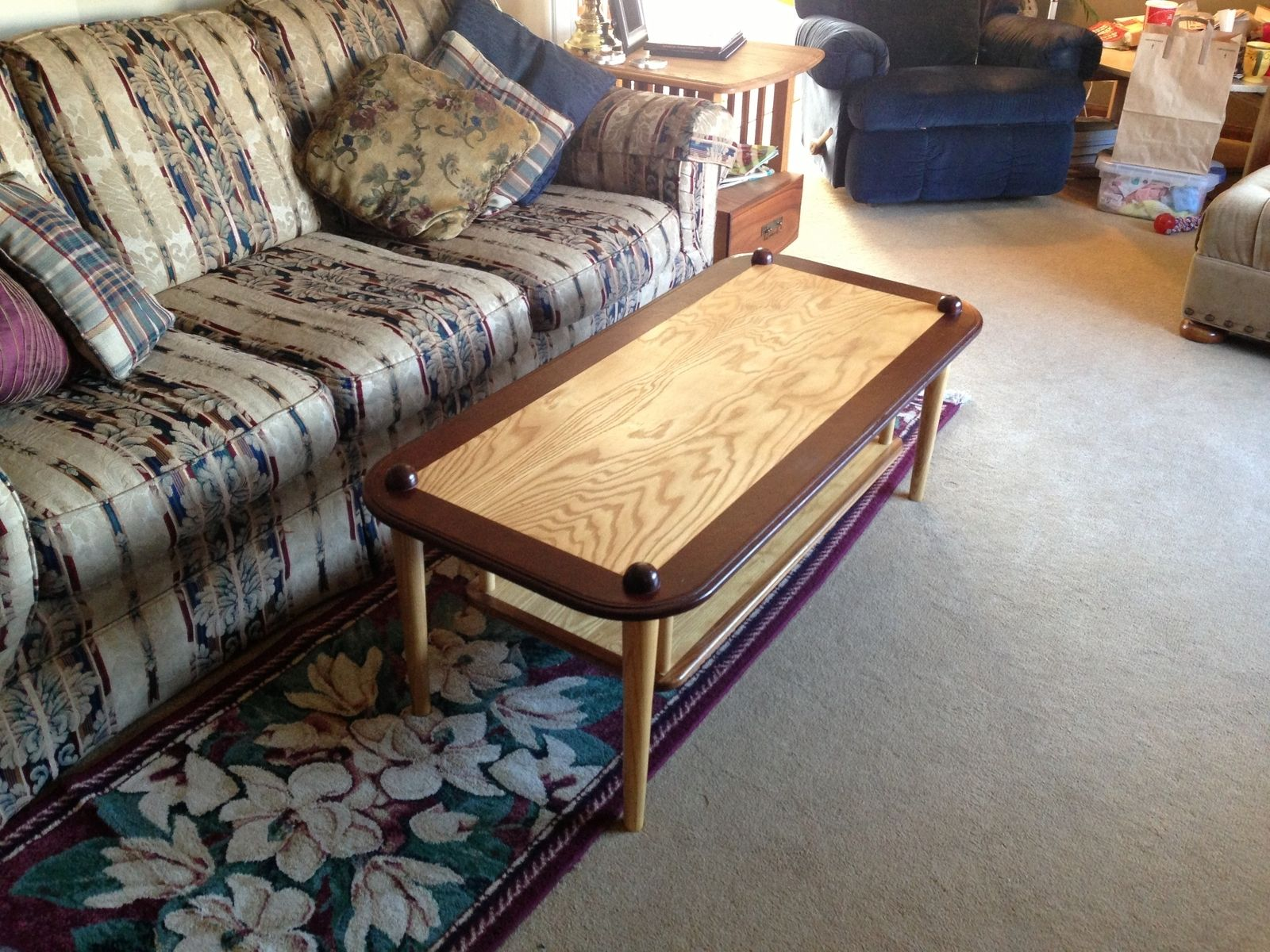 "Custom Made ""Baseball Themed"" Coffee Table by The Plane Edge LLC"