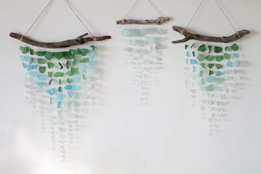 Custom Made Sea Glass And Driftwood Mobile