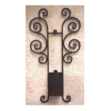Custom Made Wrought Iron Planter Rustic Wall Decor By Rustic Furniture Hut