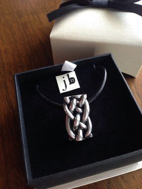 Custom Made Braided Sterling Silver Pendant Necklace