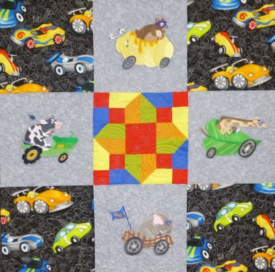 Custom Made Custom Animals In Hot Rods - Child's Throw Quit