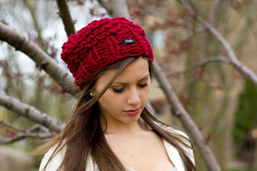 Custom Made Cranberry Red Planter Hat