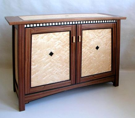 Custom Made Arts And Crafts Style Cabinet