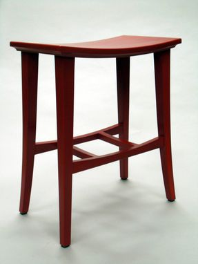 Custom Made Bright Red Stool