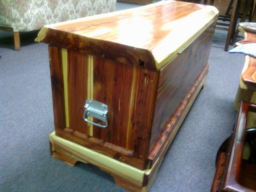 Custom Made Slab Top Cedar Hope Chest