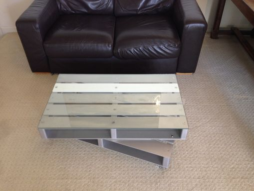 Custom Made Contemporary Coffee Table - Aluminum Pallet