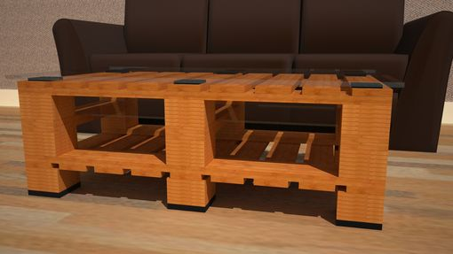 Custom Made Coffee Table In 1 X 2 Block Foot Style