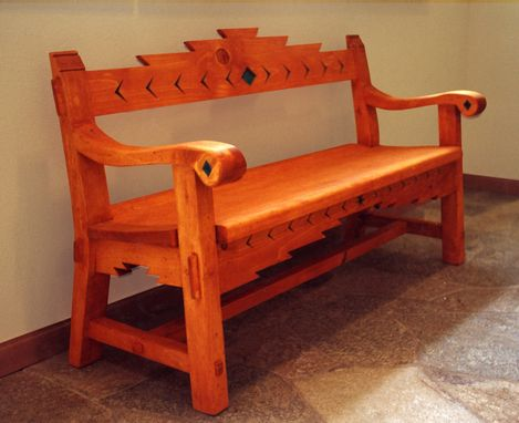 Custom Made Sante Fe Style Bench