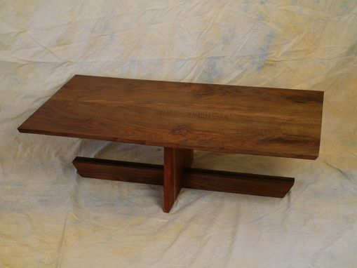 Custom Made Book Matched Claro Walnut Coffee Table