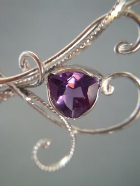Custom Made Asymmetric Sterling Silver And Amethyst Necklace