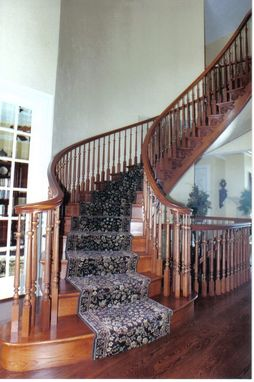 Custom Made White Oak Freestanding Stairway