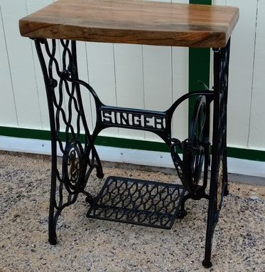 Custom Made Treadle Base With Slab Top