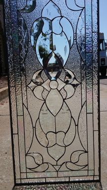 Custom Made All Clear Classic Beveled Stained Glass Window