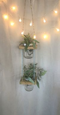 Custom Made Mason Jar Herb Garden