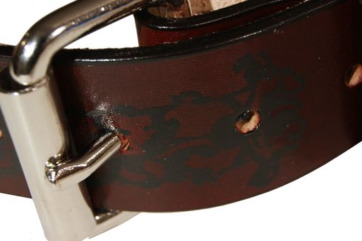 Custom Made Vertebrae Leather Belt