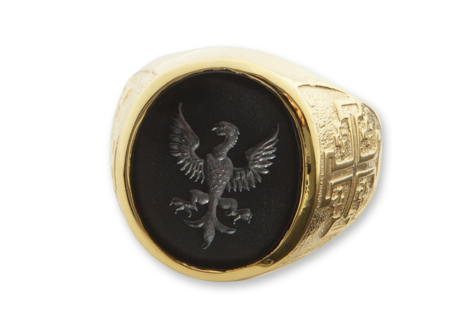 Custom Made Men's Engraved Black Onyx Crest Ring by The ... | 1500 x 1038 jpeg 81kB