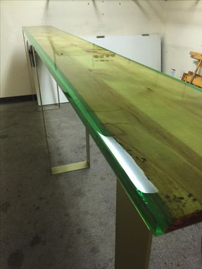 Custom Epoxy And Live Edge Hall Or Accent Table With