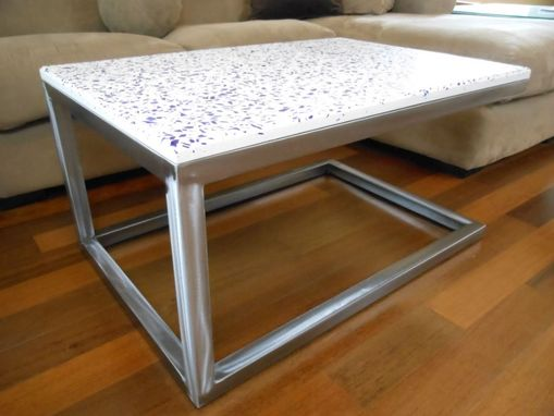 Custom Made Cantilevered Concrete Coffee Table
