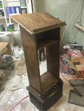 Custom Made Solid Wood Maple Podium/Shtender