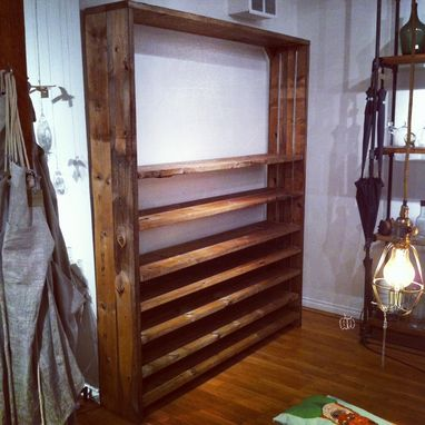 Custom Made Adjustable Reclaimed Wood Shelves