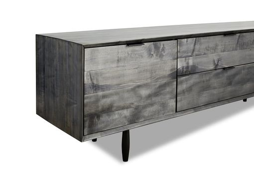 Custom Made Smoke Grey Credenza