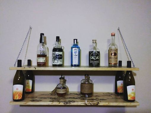 Custom Made Wine Bottle Shelf