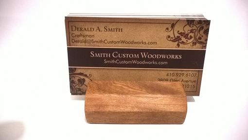 Custom Made Natural Wood Business Card Holder