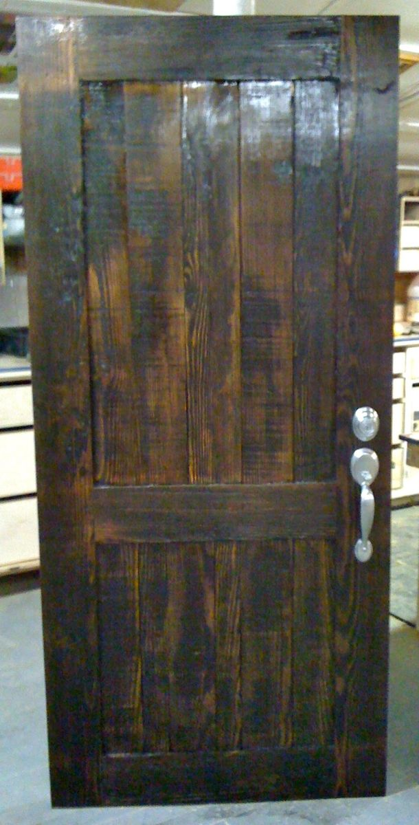 custom wood door from reclaimed by endless design