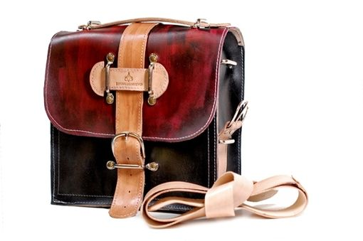 Custom Made Hand Painted Kirkaldy Leather Camera Bag