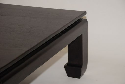 Custom Made Black Walnut Ming Coffee Table - Free Shipping