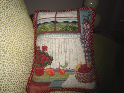Custom Made Small Traditional Needlepoint Pillow