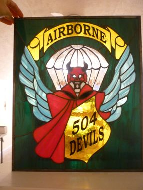 Custom Made Military Unit Crests, Hail And Farewell Gifts In Stained Glass