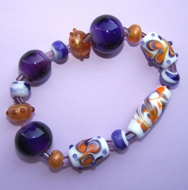 Custom Made Graceful Viola Lampwork Beads