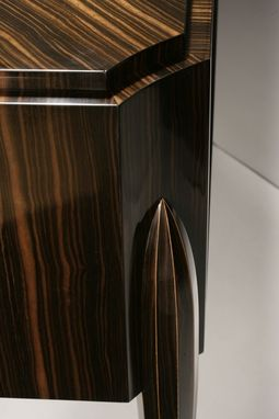 Custom Made Custom Buffet Cabinet In Ebony With Three Drawers