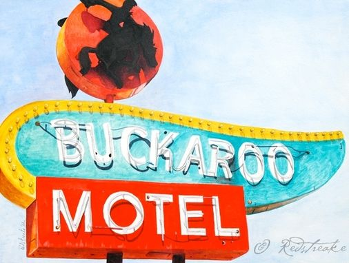 Custom Made Illustrated Vintage Signs - Watercolor On Aquabord