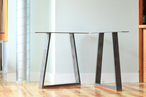 Custom Made Battenkill Dining Table - Hardwood And Steel, Custom Sizes