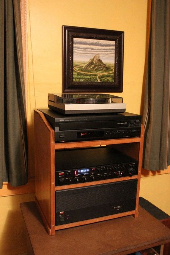 Custom Made Small Stereo Cabinet